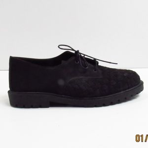 Aerosole Patent Pending Black Weave Loafers 7.5B